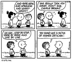 peanuts-higher-criticism