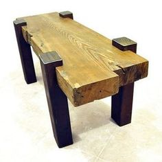 Reclaimed Beam Coffee Table by Drew Lambert