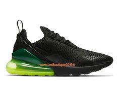huge discount 189f4 796af Nike Air Max 270 Noir Vert Chaussure Officiel Prix Pas Cher Pour Homme  AH8050-011