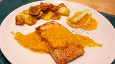 Trancio di salmone in salsa di mandarino