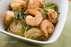 Angel Hair with Shrimp and Asparagus | Weight Watchers Recipes