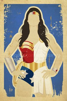 Half and half print of Wonder Woman. 12x18 print signed by the artist.