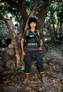 Portrait of Young Salvadoran Guerrilla