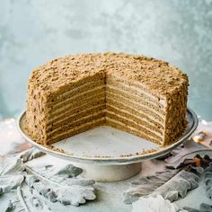 Russian Honey Cake Recipe Check out our impressive Russian cake recipe with moreish burnt-honey icing. This layer cake takes a bit of effort to make but its the perfect cake to show off to friends and family for any special occasion easy cake recipes Honey Cake Recipe Easy, Honey Recipes, Easy Cake Recipes, Dessert Recipes, Desserts, Perfect Cake Recipe, Russian Honey Cake, Russian Cakes, Food Cakes