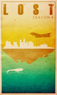 Lost Season 4 - Minimal TV Poster by Travis English #minimaltvposters #alternativetvposters #travisenglish