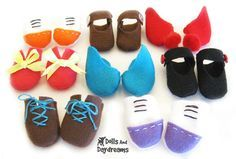 Doll Shoes PDF Sewing Pattern by DollsAndDaydreams on Etsy, $4.99