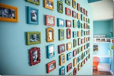 Image result for brightly painted furniture