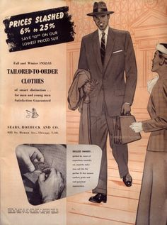 Fall & Winter 1952-53 -Sears Catalog - another great menwear monday post by Jessica of Vintage Stitches.