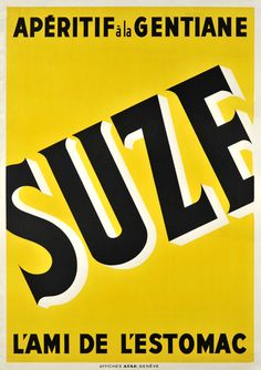 Suze, apéritif à la gentiane - L'ami de l'estomac - 1935 -