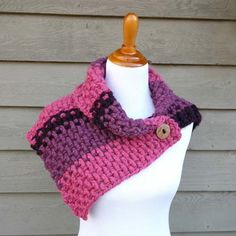 Lingonberry Button Cowl Free Crochet Pattern