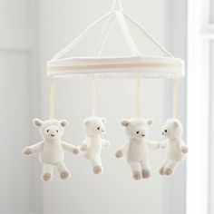 These little lambs softly sway to the tune of 'Hush, Little Baby', helping to soothe your little one to sleep. Sewn from super soft velboa and accented with French knots, this mobile is a gorgeous addition to their nursery or sleep space. Little Babies, Baby Kids, Harper Nursery, Nursery Toys, Home Comforts, Kids Corner, Pottery Barn Kids, Baby Sleep, Cotton Canvas