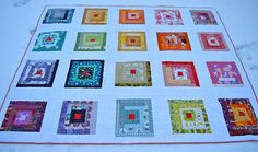 absolutely stunning - check out the post and see the back!  it's a ROYGBIV quilt!!!