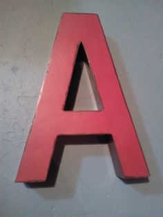 Tin Red Letter A by BrokeBucketBoutique on Etsy, $19.99