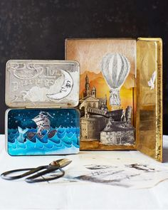 Beautiful inspiration for making your own shadow boxes from Lova at Sweet Paul.