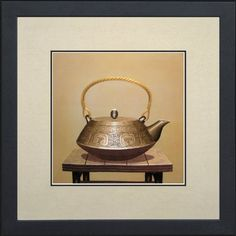 King Silk Art 100 Handmade Embroidery Mixed Group Porcelain Brass Teapot feng shui large Framed china Painting Gift Oriental Asian Wall Art Dcor Artwork Hanging Picture Gallery 38051WFG * Read more  at the image link. (This is an affiliate link and I receive a commission for the sales)