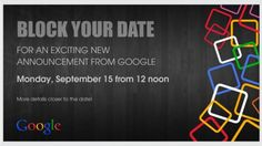 Google's invitations for September 15th event