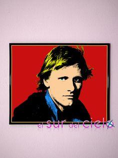 Retrato de Viggo Mortensen convertido en arte pop. Podemos hacer lo mismo con tus fotografías favoritas www.elsurdelcielo.com