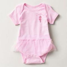 Seahorse Artwork Baby Bodysuit -nature diy customize sprecial design