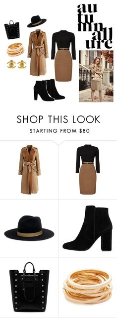"""""""Ready for fall"""" by marija88stylist ❤ liked on Polyvore featuring Chicwish, Phase Eight, Janessa Leone, MANGO, Mulberry, Kenneth Jay Lane, Chanel and Ann Taylor"""