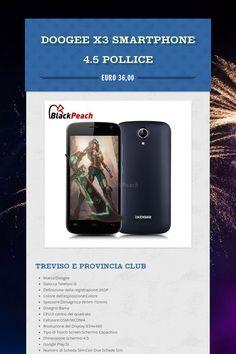 Doogee X3 Smartphone 4.5 Pollice