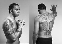 lewis hamilton tattoo - and now right arm is completely covered