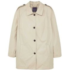 Violeta BY MANGO Classic cotton trench coat (€110) ❤ liked on Polyvore featuring outerwear, coats, cotton coat, long sleeve coat, trench coat and cotton trench coat