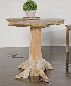 Uttermost Accent Furniture Quito Teak Wood Accent Table - Sprintz Furniture - End Table Nashville, Franklin, Brentwood and greater Tennessee
