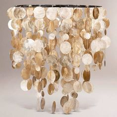 Capiz Shell Chandelier - over the dance floor