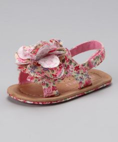 $18.99 Pink Floral Little Jewel Sandal by Nuborn on #zulily today!