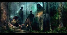 Eurytas The Centaur & His Brother's , Samuel Matthews on ArtStation at https://www.artstation.com/artwork/8BGVm