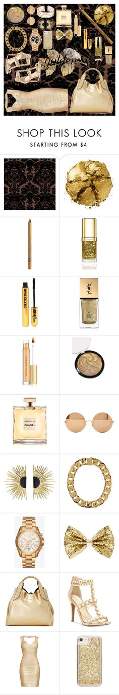 """stay golden"" by mmgrimshaw ❤ liked on Polyvore featuring beauty, Timorous Beasties, Pat McGrath, NYX, Dolce&Gabbana, Nasty Gal, Yves Saint Laurent, Kevyn Aucoin, Chanel and Victoria Beckham"