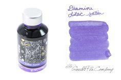Pretty pretty purple ink... Diamine Lilac Satin has silver sparkles. Love this!