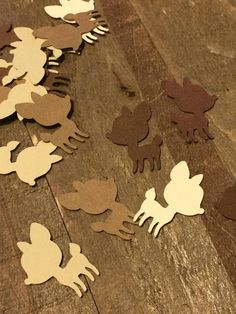 Brown and Cream Baby Deer Fawn Shower Table Confetti Woodland