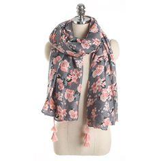 2018 Fashion Spring Scarf Woman Print Floral Cotton Scarfs Girls Thin Pashmina Tassel Shawl Scarves Stoles Oversized 185*90cm
