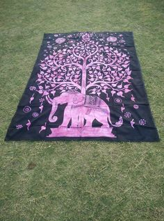 Bedspreads – Tree Elephant Bedspread Tapestry Wall Hanging – a unique product by IndianCraftPalace on DaWanda