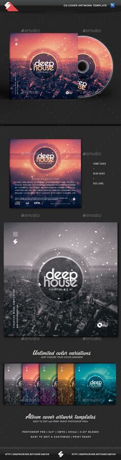 Deep House Essential vol.2 - CD Cover Artwork Template - CD & DVD Artwork Print Templates.Download here: http://graphicriver.net/item/deep-house-essential-vol2-cd-cover-artwork-template/16644794?ref=arroganttype