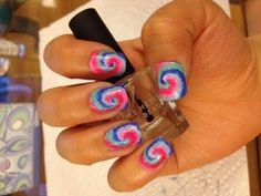 Tie Dyed Nail Tutorial