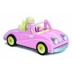 Le Toy Van Chloe's Pink Wooden Coupe - Scaled for Dollhouses