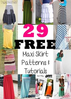 Maxi Rock Trend 2016 - es sind zu viele - näh sie dir einfach selbst - mit Video Tutorial *** 29 Maxi Skirts Free Sewing Patterns and Tutorials - The joyful seasons of Spring and summers are upon us.  There are 29 different ideas to choose from.