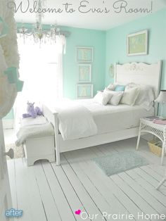 Totally in love with this minty goodness. Better After: Sugar and Spice and Little Girl Spaces