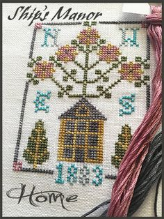 Home Cross Stitch Kit by shipsmanor on Etsy
