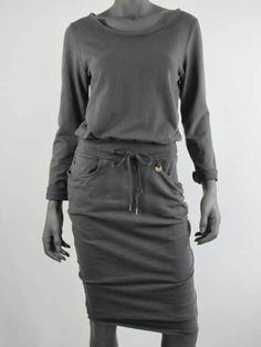 Trendy dames jurk in jogging stof