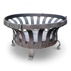 Prop Hire » Braziers » Large Concave Sided Low Iron Brazier - Keeley Hire Iron Fire Pit, Fire Pit Grill, Diy Fire Pit, Fire Basket, Wood Basket, Garden Fire Pit, Fire Pit Backyard, Wrought Iron Decor, Wood Burning Fire Pit