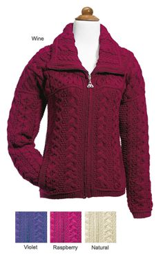 Zip Sweater, Sweater Weather, Irish Clothing, Trinity Knot, Hoodie Jacket, Hand Warmers, Long Sleeve Tops, Winter Outfits, Knitwear
