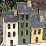 salt box houses/make your own houses out of blocks of wood. They are so cute.