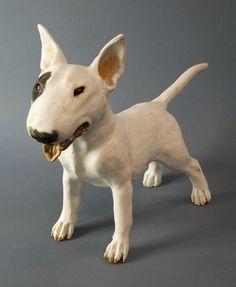 bull terrier dog sculpture by Joanne Cooke 2012