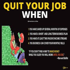 """It's so ridiculous to quit your job when you are """"motivated """" by some gurus tried to tell you that make money online is easier! Business Money, Business Planning, Business Tips, Online Business, Financial Quotes, Financial Tips, Financial Literacy, Business Motivation, Business Quotes"""