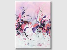 Abstract Painting on canvas. This is an original piece - painting was created in 2017. Shipping: International - carefully packed. #pink #abstract #homedecor #art #painting #modernart #originalart #artwork #svetlansa #wallart
