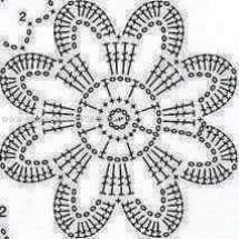 Home Decor Crochet Patterns Part 32 - Beautiful Crochet Patterns and Knitting Patterns Crochet Motif Patterns, Crochet Diagram, Crochet Squares, Crochet Chart, Thread Crochet, Knitting Patterns, Granny Squares, Knitting Squares, Crochet Books