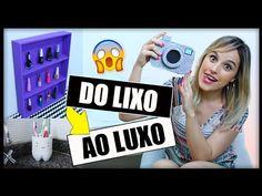 No DIY (faça você mesmo) de hoje - tem 3 ideias de DIYs, usando lata de tinta, caixa de cereal e embalagens de frutas. * Assista outros vídeos Do LIXO ao LUX...